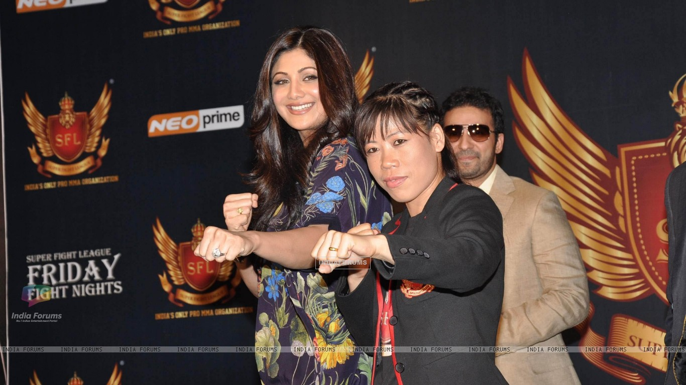 Shilpa Shetty, Raj Kundra and Mary Kom at SFL press meet (227634) size:1366x768
