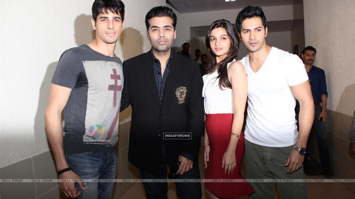 Alia, Varun, Karan and Siddharth (258680) size:1366x768