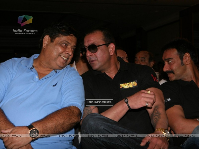 Sanjay Dutt, Ajay Devgn and David Dhawan at Film 'Rascals' music launch at Hotel Leela in Mumbai (158913) size:800x600