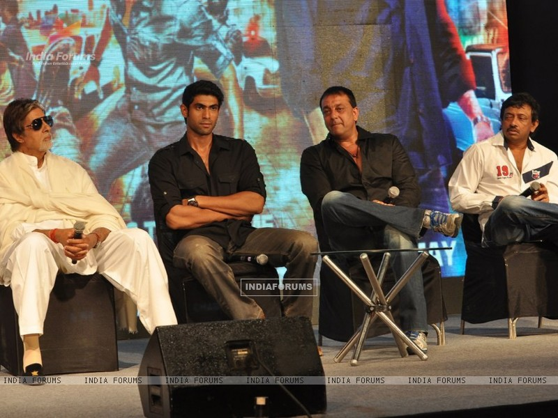 Amitabh Bachchan, Rana Daggubati, Sanjay Dutt and Ram Gopal Verma at 'Department' film press meet (195795) size:800x600
