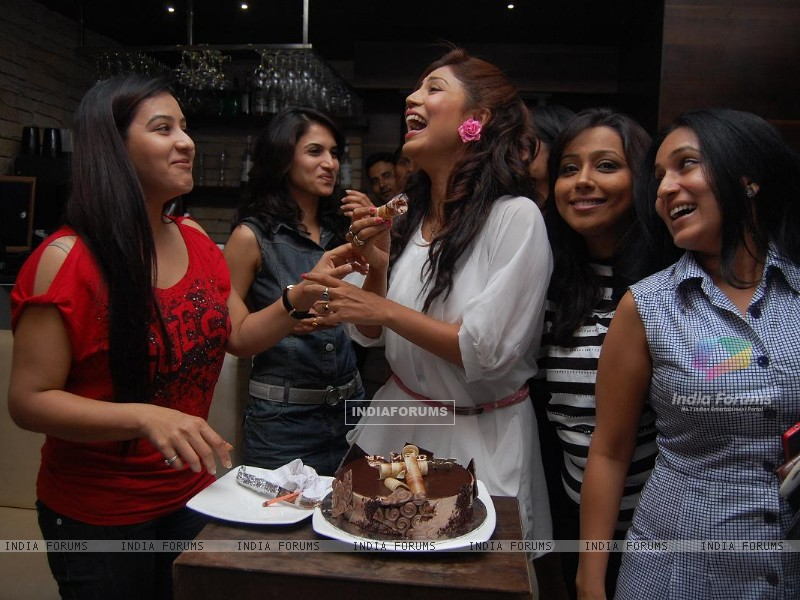 Debina & Shilpa Shinde with friends (198616) size:800x600
