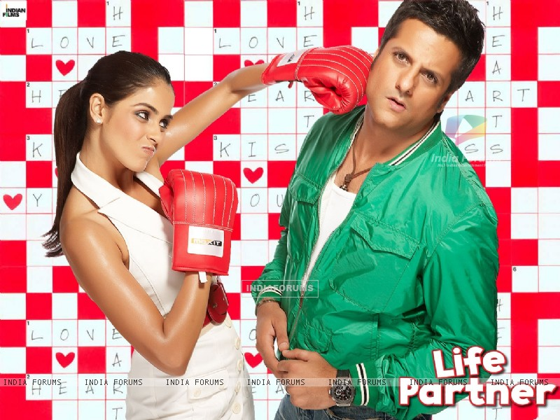 Wallpaper of Life Partner movie with Fardeen and Genelia - Wallpaper