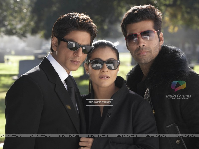 Still of Shahrukh, Kajol and Karan Johar (40299) size:800x600